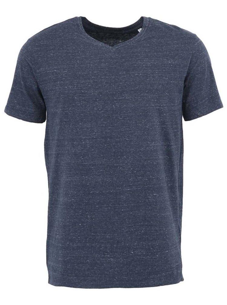 Tmavě modré pánské vintage triko Stanley & Stella Expects