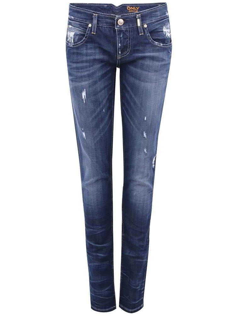 Tmavě modré skinny džíny ONLY Mercury