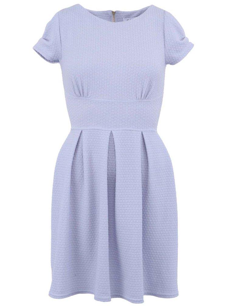 Svetlomodré šaty so zipsom na chrbte Closet