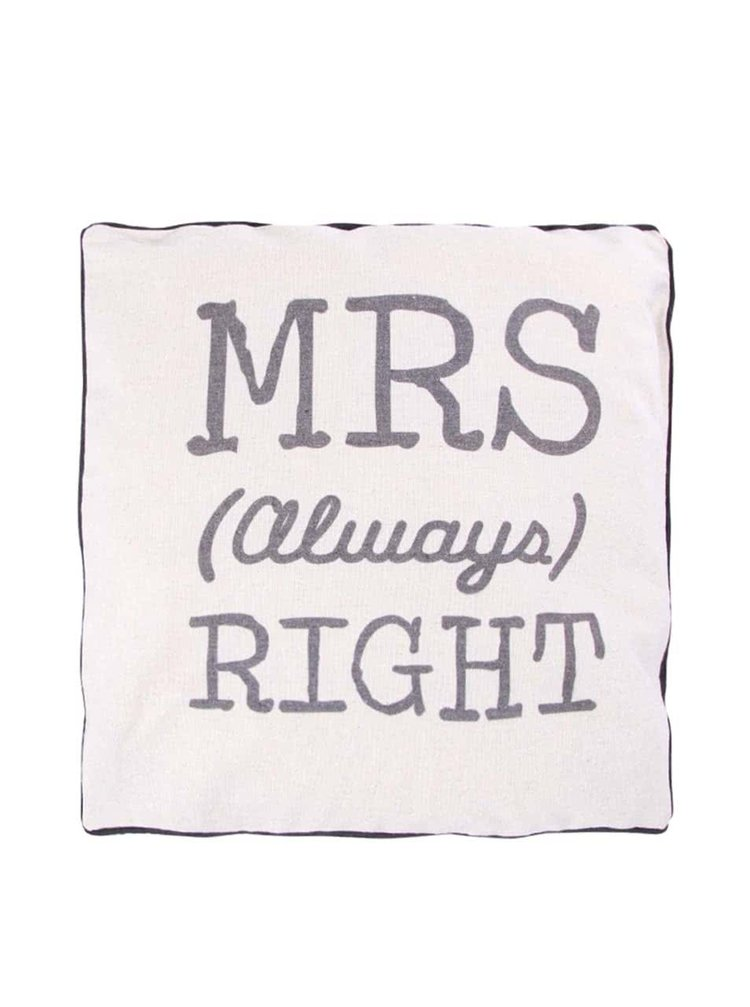 Pernă bej Sass & Belle MRS Always Right