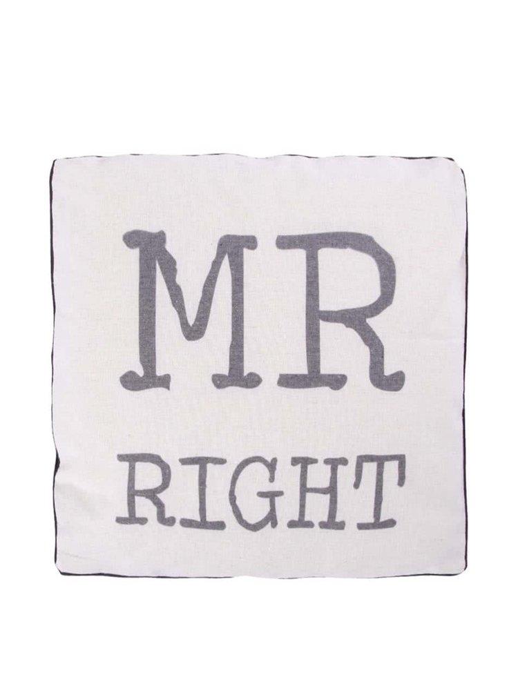 Pernă bej Sass & Belle Mr. Right