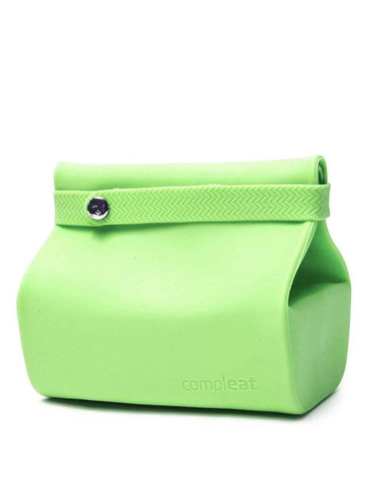 Zelené silikónové vrecko na desiatu Compleat Foodbag