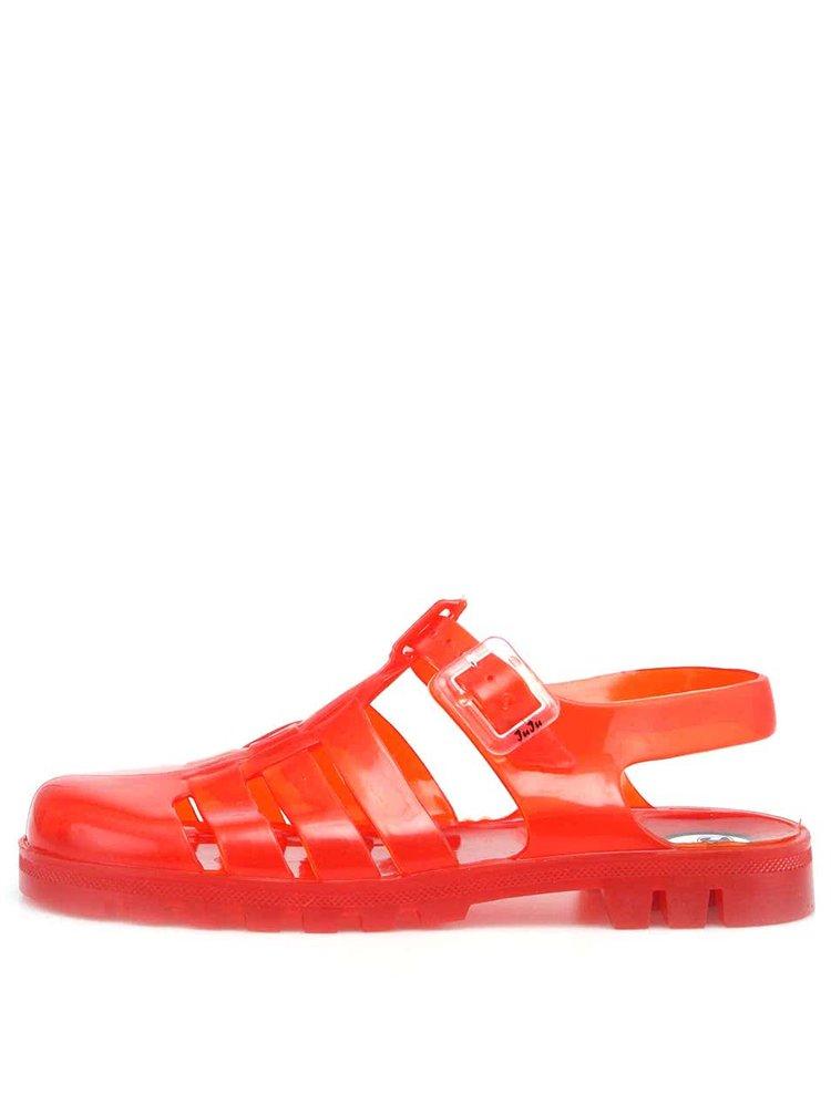 Sandale Maxi din plastic transparent roșu de la JuJu