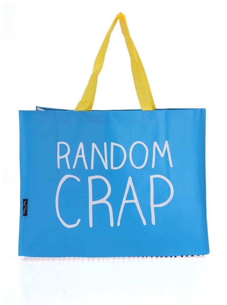 Modrá nákupná taška Happy Jackson Random Crap