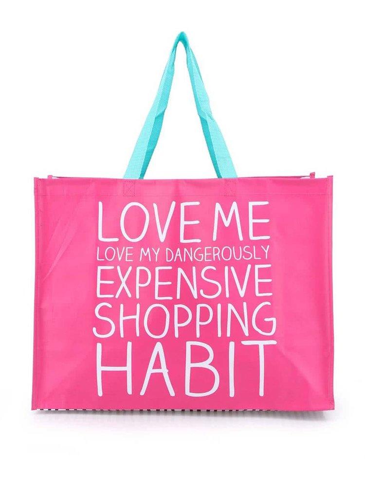 Růžová nákupní taška Happy Jackson Love Me