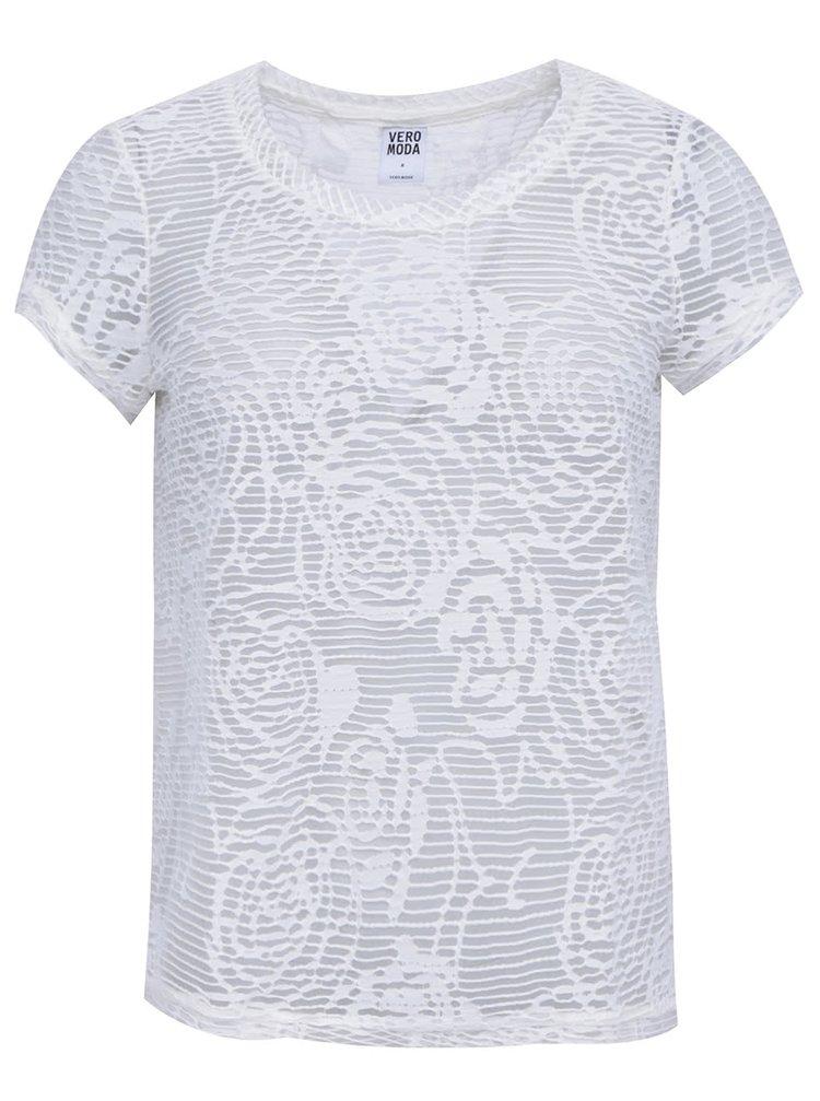 Bluză albă transparentă VERO MODA Glow