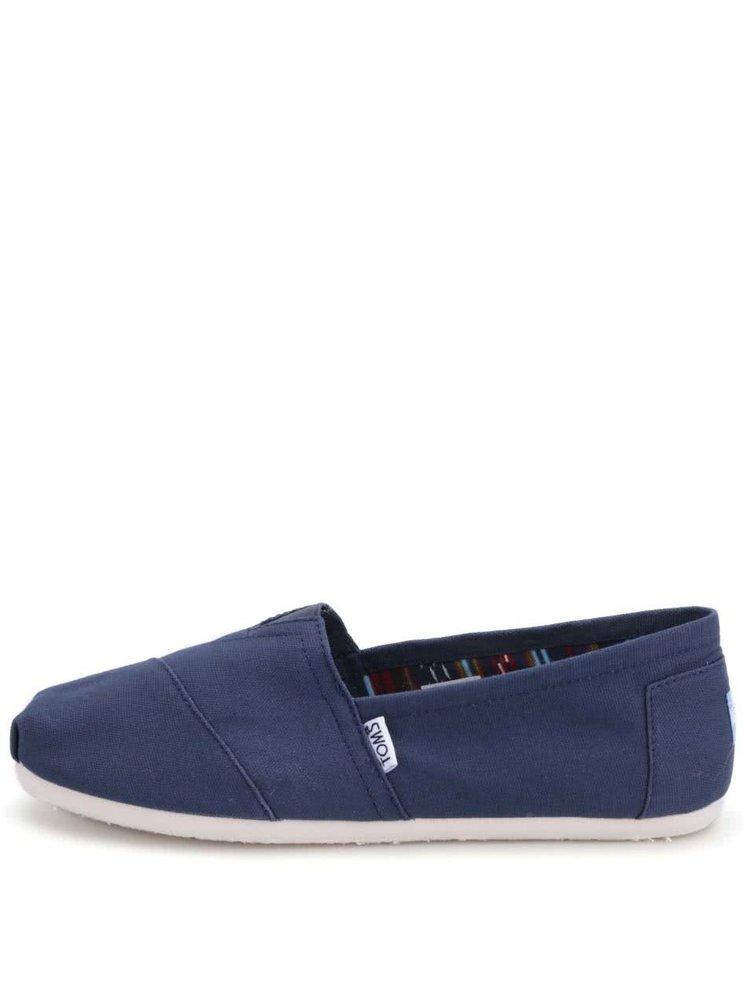 Tmavě modré pánské loafers TOMS Classic