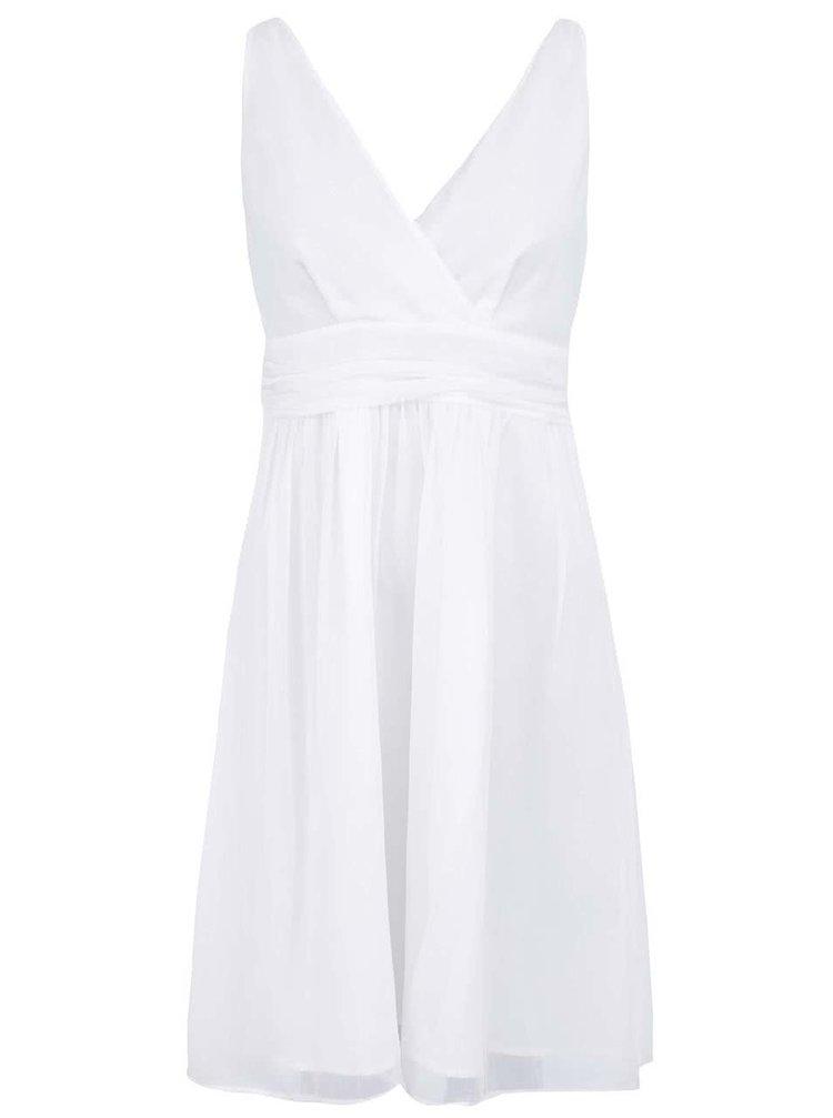 Biele šaty s véčkovým výstrihom VERO MODA Josephine