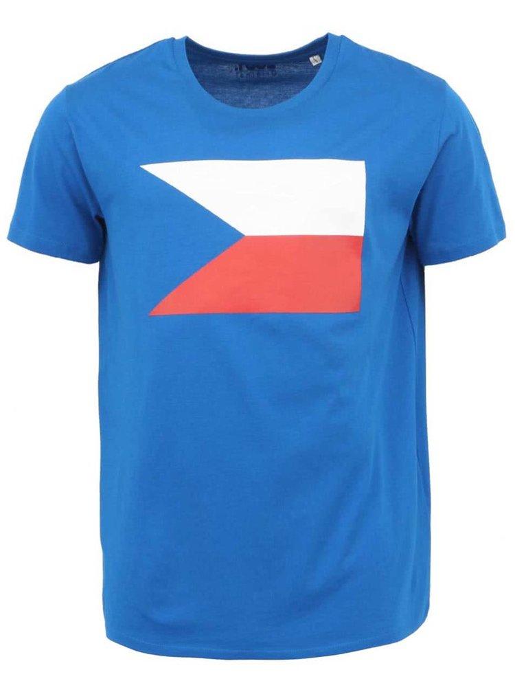 Modré pánské triko s vlajkou ZOOT Originál
