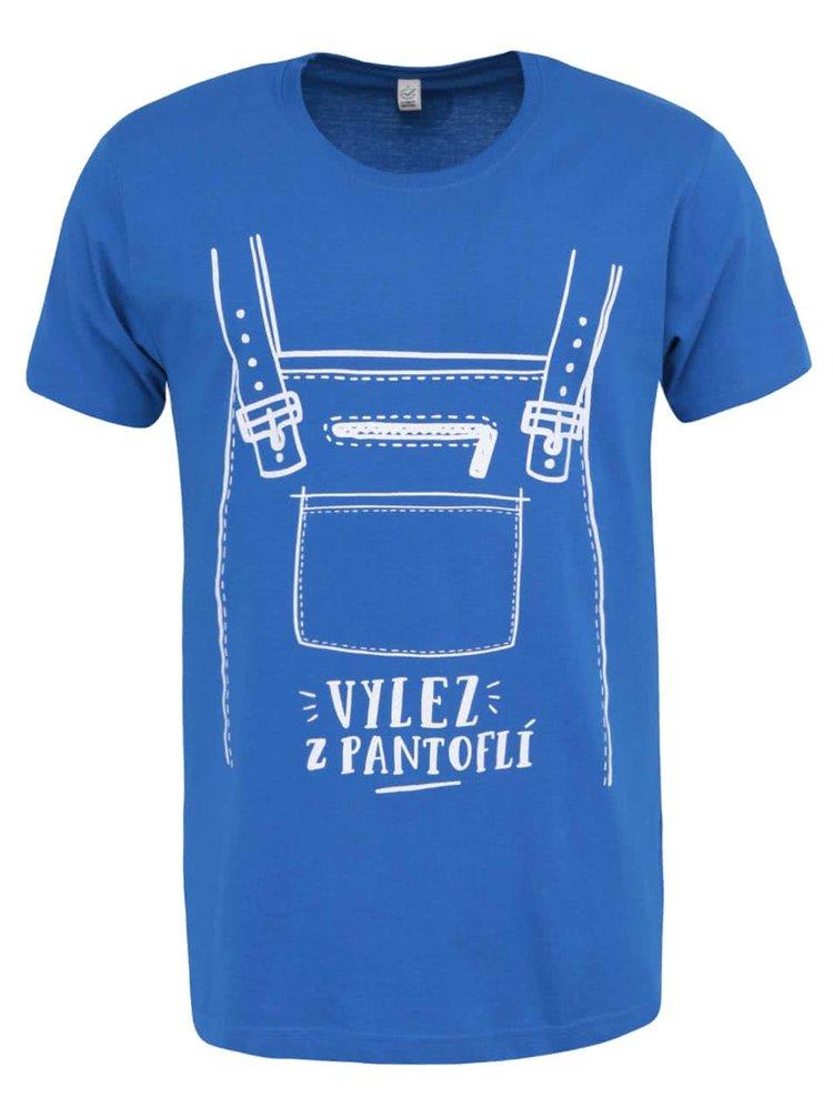 """""""Dobré"""" modré pánské triko s potiskem pro Tamjdem"""