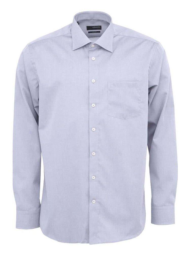 Sivá košeľa Seidensticker Kent Classic Patch 98 Regular Fit