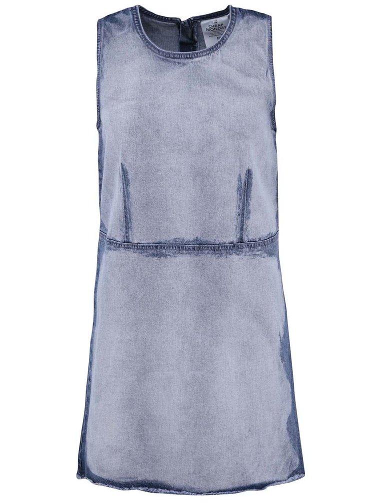 Modré džínové šaty s vyšisovaným efektem Cheap Monday Idol