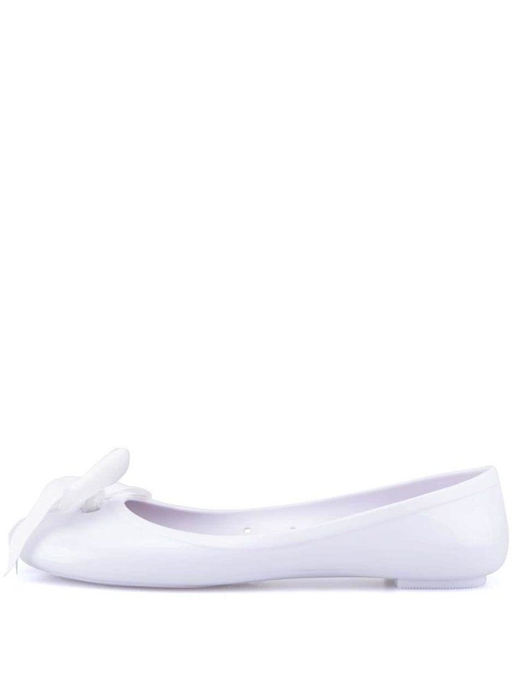 Balerini Colors of California albi cu fundiță albă