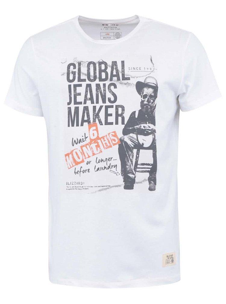 Tricou alb cu imprimeu Laundry BLEND