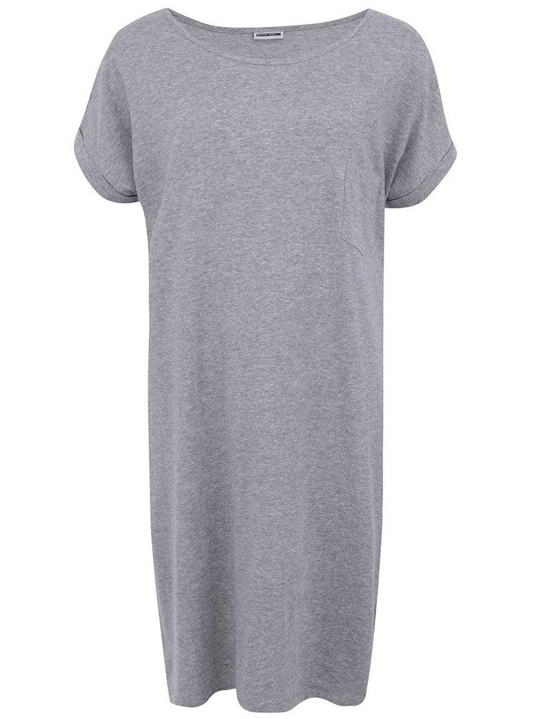 Světle šedé volné šaty s kapsou Noisy May Minna
