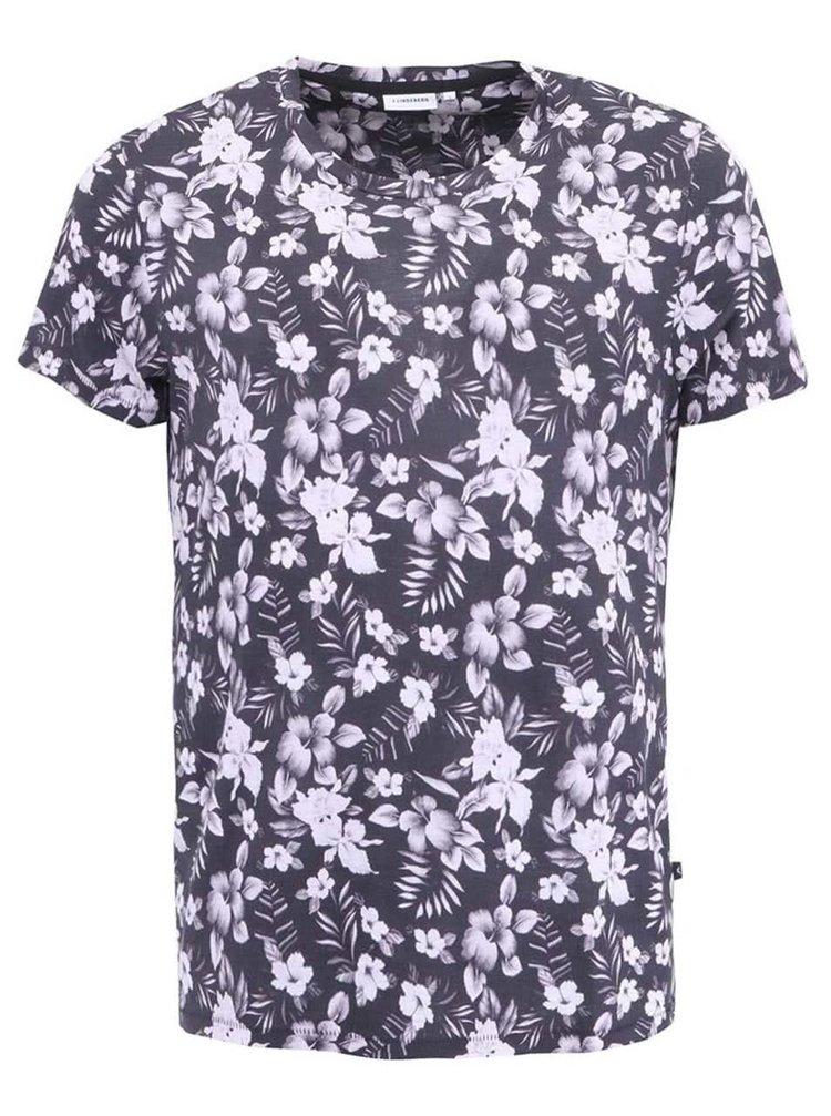 Čierne pánske tričko J.Lindeberg Sev Floral