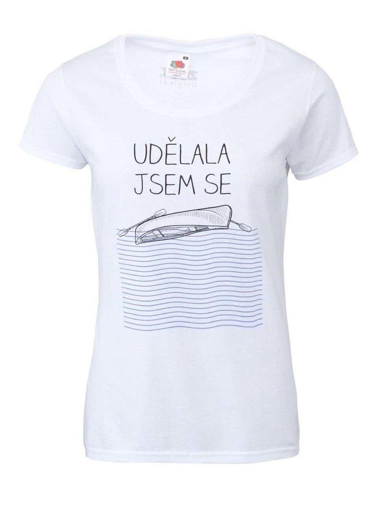 Bílé dámské tričko ZOOT Originál Udělala jsem se