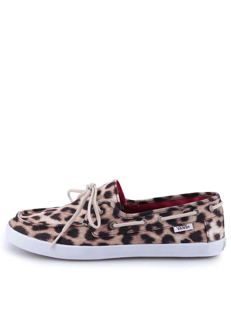 Leopardie dámske tenisky Vans Chauffette