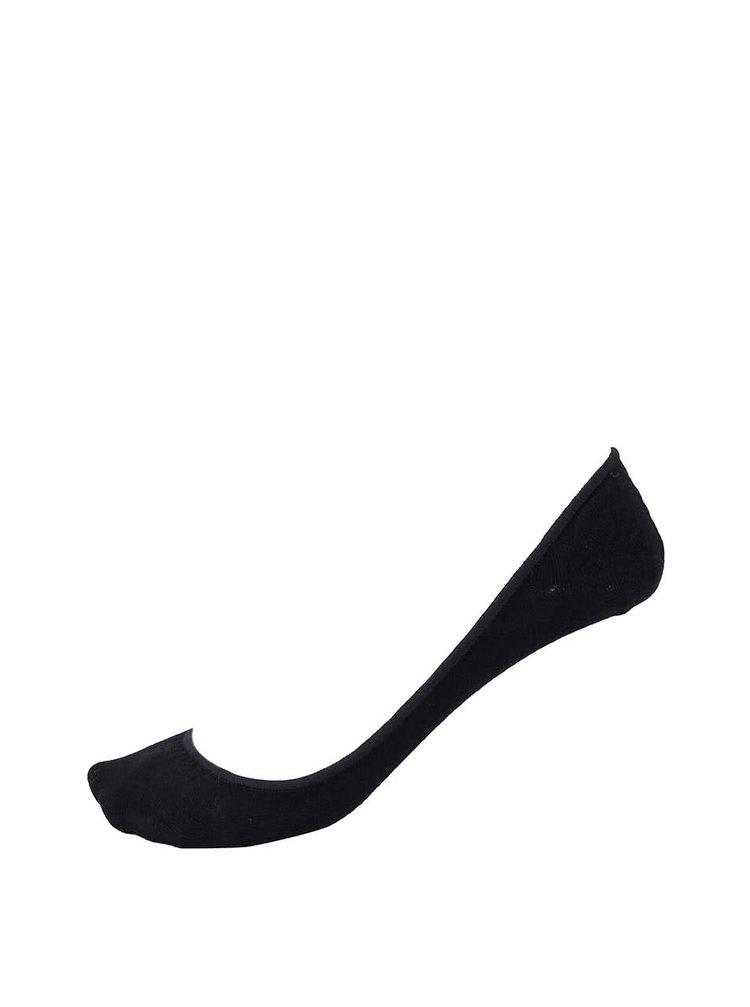 Černé balerínkové ponožky Pieces
