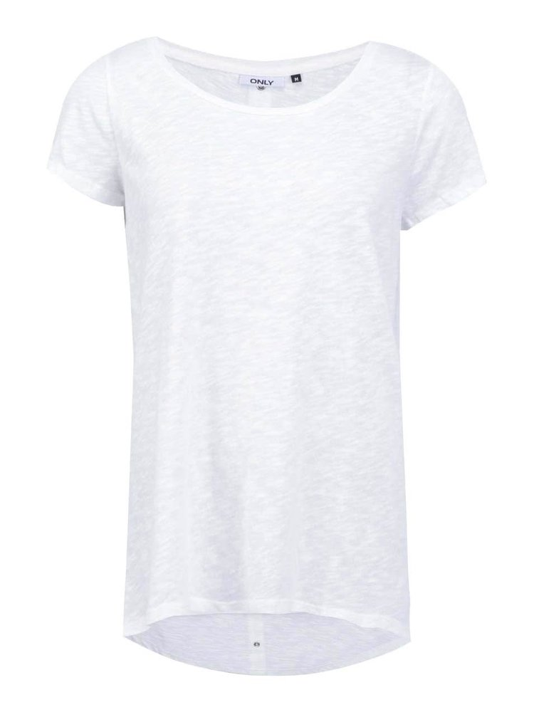 Krémové delší tričko ONLY Casa