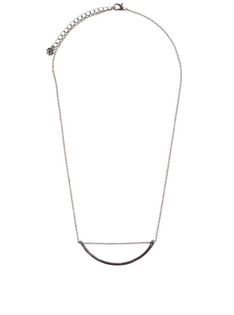 Sivočierny náhrdelník s ozdobou Pieces Evani