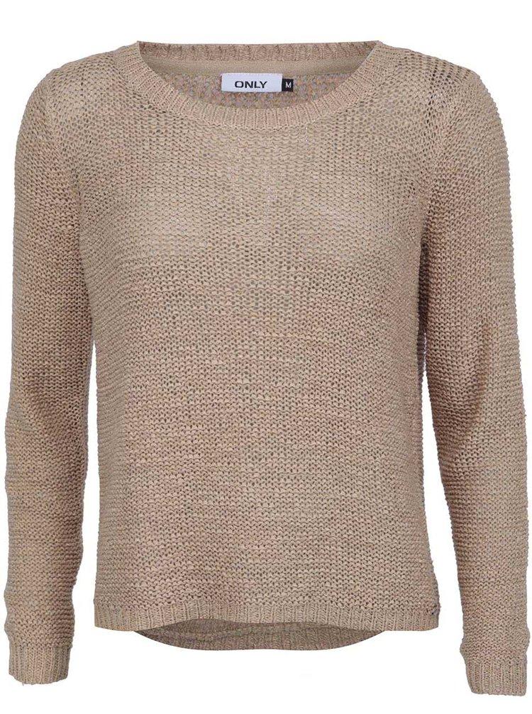 Pulover tricotat Geena ONLY - bej