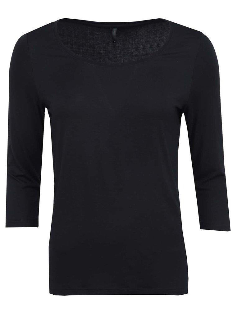 Čierne tričko s 3/4 rukávom ONLY Jewel