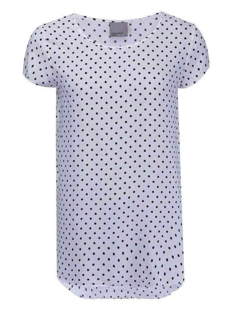 Biele tričko s bodkami VERO MODA Boca