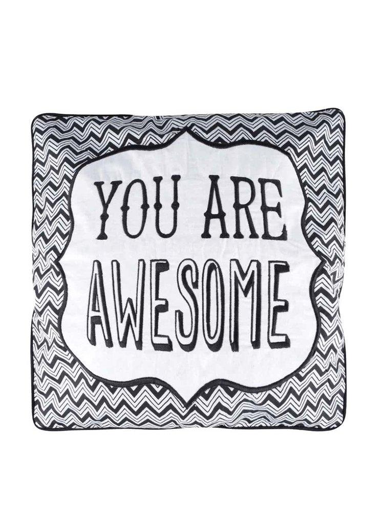 Čierny vankúš Sass&Belle You Are Awesome