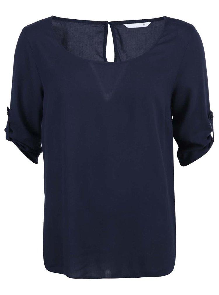 Bluză largă bleumarin cu mâneci 3/4 ONLY Geggo