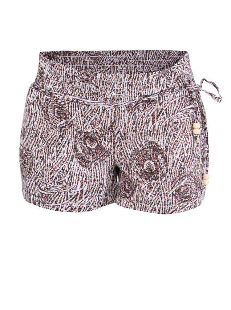 Pantaloni scurți cu imprimeu pentru femei Horsefeathers Leny - maron