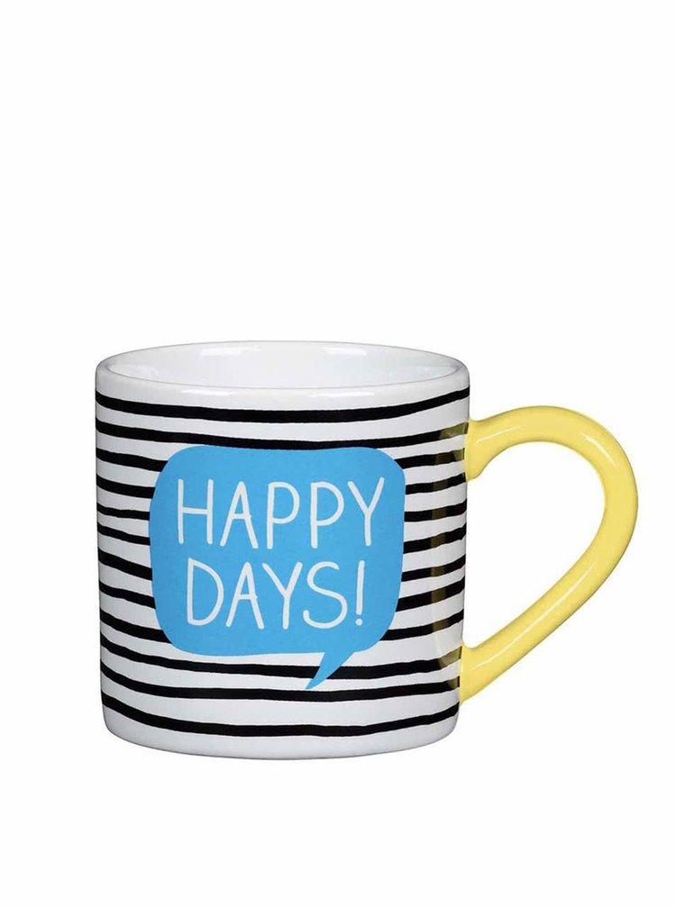 Černo-bílý hrnek Happy Jackson Happy Days