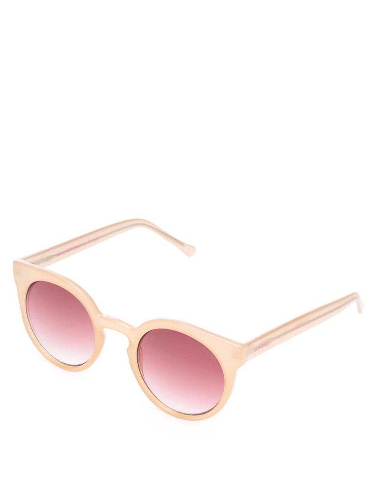 Růžové dámské sluneční brýle Komono Lulu