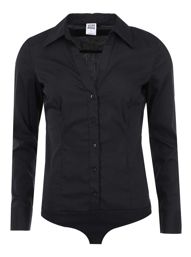 Bluză body neagră Moda Cousin
