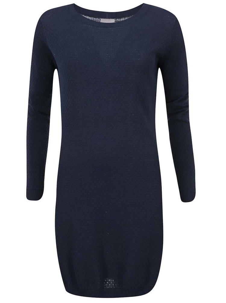 Tmavě modré svetrové šaty VERO MODA Care