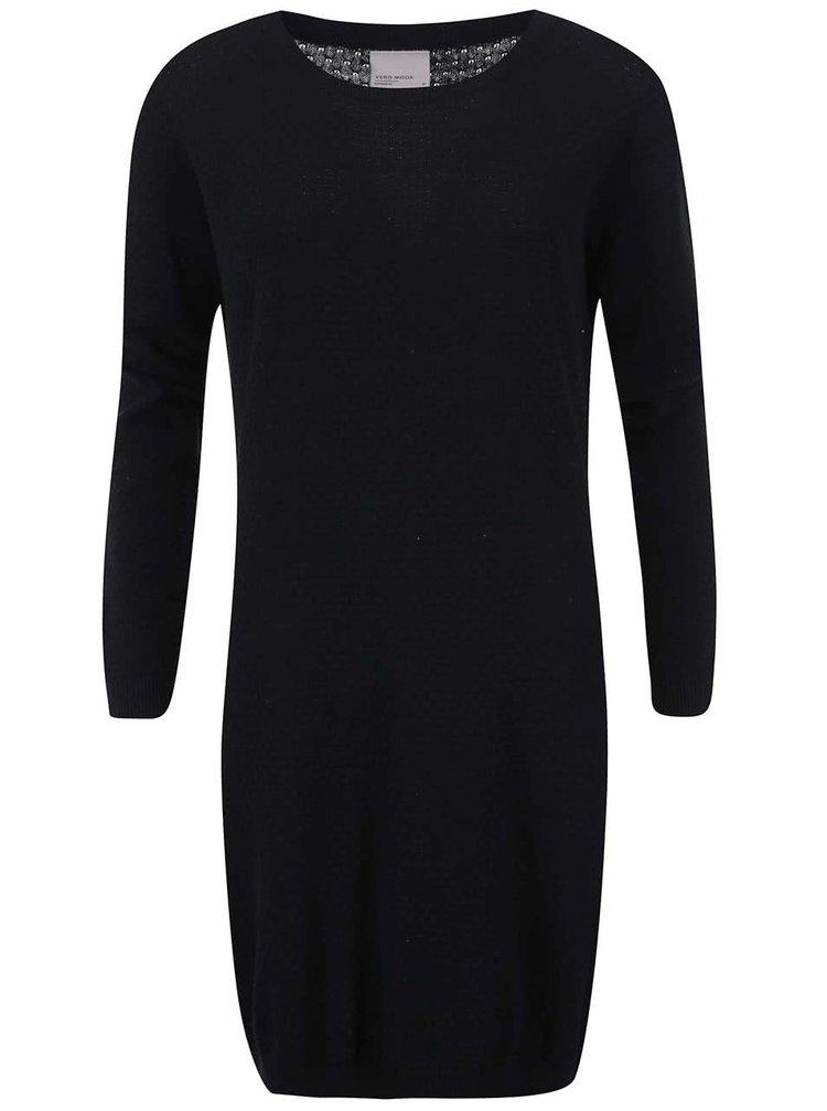 Čierne svetrové šaty VERO MODA Care