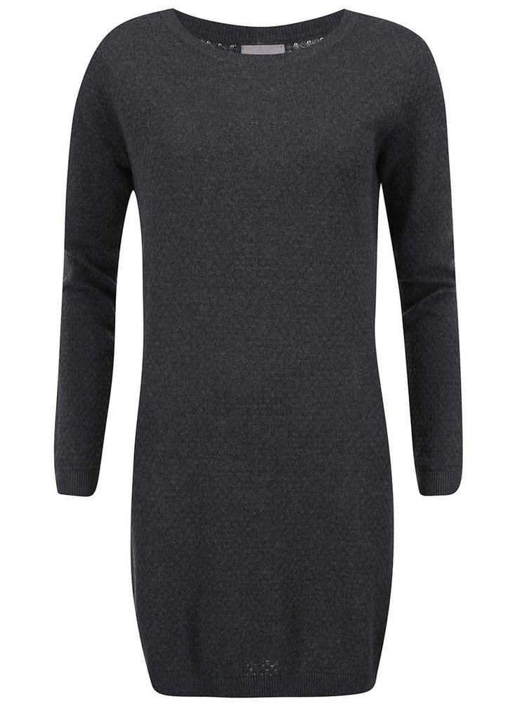 Tmavosivé svetrové šaty VERO MODA Care