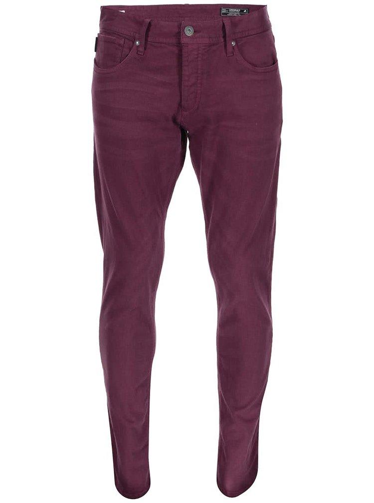 Pantaloni slim fit bordo Jack & Jones Glenn