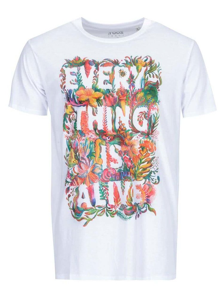 Biele pánske tričko ZOOT Lokál Everything Is Alive