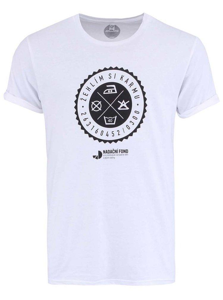 """""""Dobré"""" biele pánske tričko pre Nadačný fond pre predčasne narodené deti a ich rodiny"""