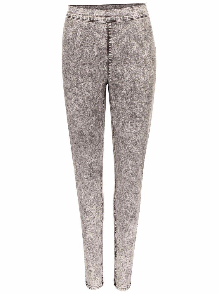 Jeanși de damă prespălați decolorați gri CHEAP MONDAY