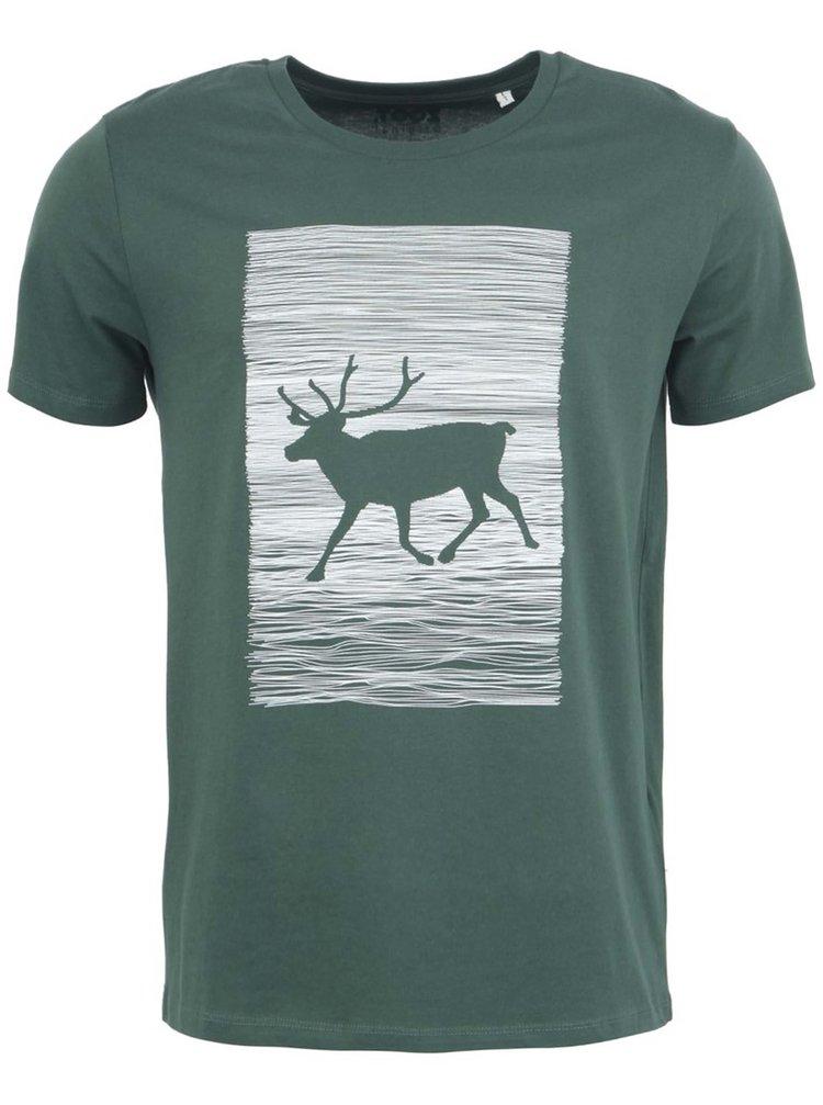 Pánske tričko ZOOT Originál Jelen Wapiti v zelenej farbe