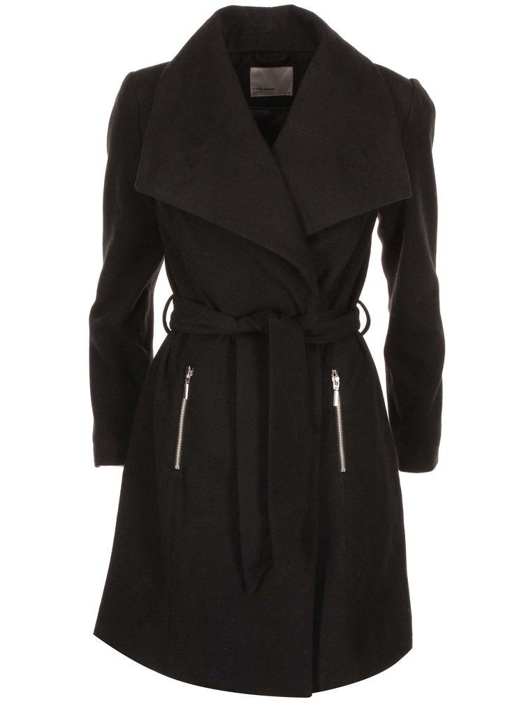 Čierny kabát VERO MODA Kate