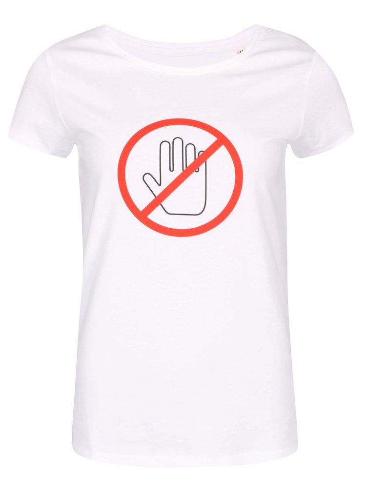 Bílé dámské tričko ZOOT Originál Nedotýkat se