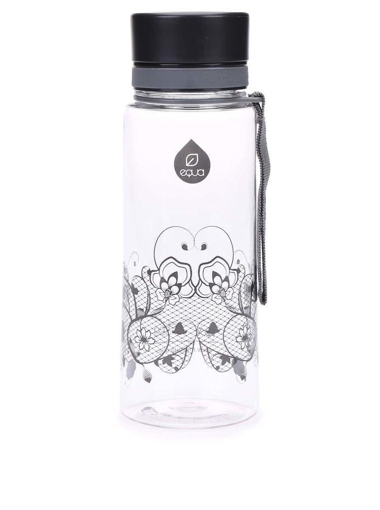 Plastová fľaša s čipkovaným vzorom EQUA (600 ml)