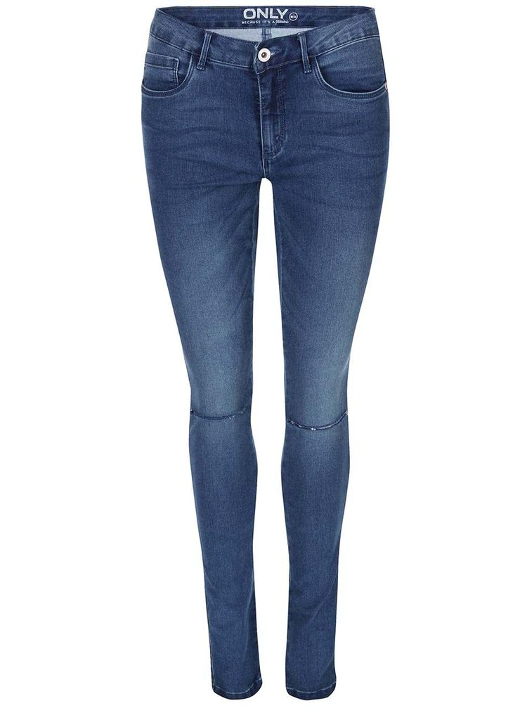Modré džíny s dírami na kolenou ONLY Royal