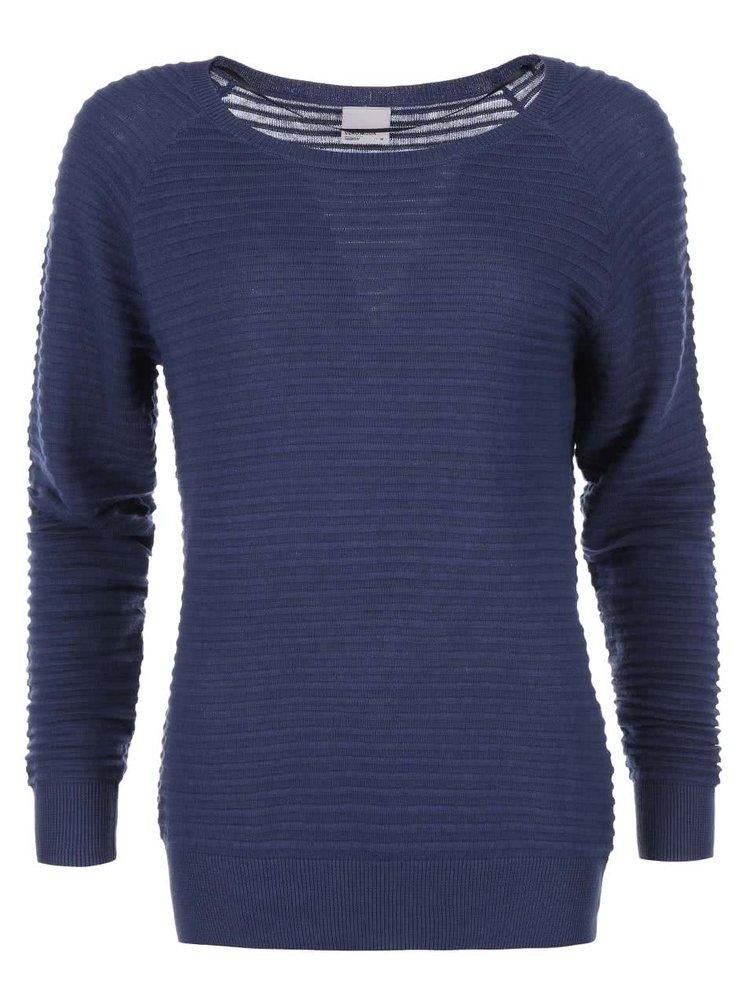 Modrý vrúbkovaný sveter VERO MODA Forever