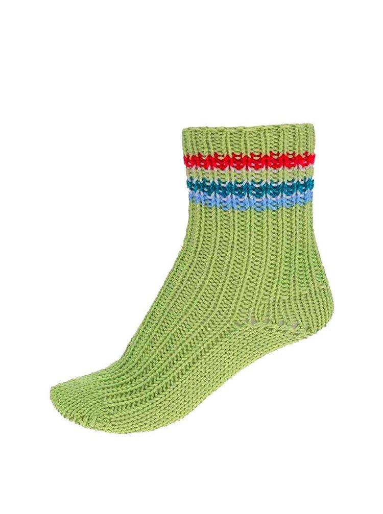 """""""Dobré"""" zelené pletené ponožky od babičky Elpidy"""