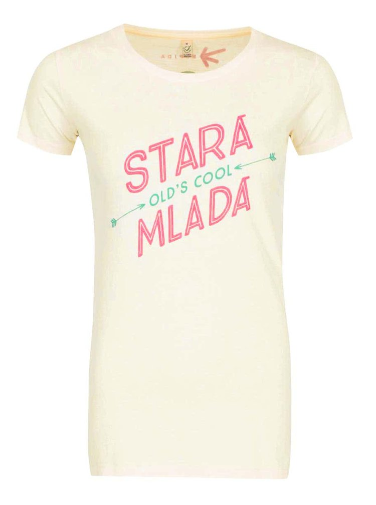 """Dobré"" krémové dámské tričko Elpida Stará mladá"