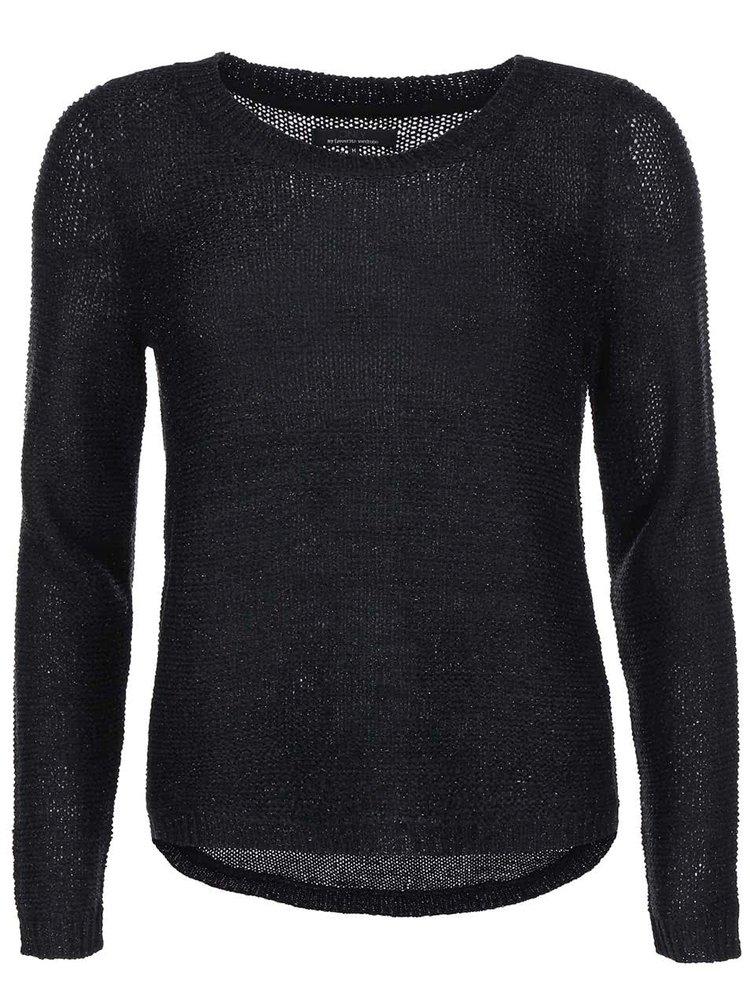 Černý svetr se třpytivým prošíváním ONLY Geeny